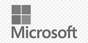 Microsoft Logo black and white_